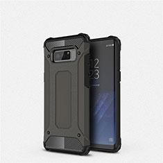 Silikon Hülle Handyhülle Ultra Dünn Schutzhülle 360 Grad Tasche S02 für Samsung Galaxy Note 8 Duos N950F Schwarz