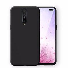 Silikon Hülle Handyhülle Ultra Dünn Schutzhülle 360 Grad Tasche S02 für Xiaomi Redmi K30 5G Schwarz