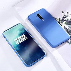 Silikon Hülle Handyhülle Ultra Dünn Schutzhülle 360 Grad Tasche S03 für OnePlus 7T Pro Blau
