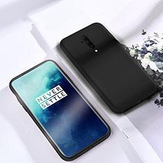 Silikon Hülle Handyhülle Ultra Dünn Schutzhülle 360 Grad Tasche S03 für OnePlus 7T Pro Schwarz