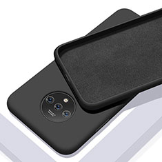 Silikon Hülle Handyhülle Ultra Dünn Schutzhülle 360 Grad Tasche S03 für OnePlus 7T Schwarz