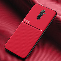 Silikon Hülle Handyhülle Ultra Dünn Schutzhülle 360 Grad Tasche S03 für Oppo Reno Ace Rot