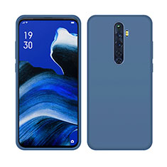 Silikon Hülle Handyhülle Ultra Dünn Schutzhülle 360 Grad Tasche S03 für Oppo Reno2 Z Blau