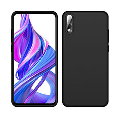 Silikon Hülle Handyhülle Ultra Dünn Schutzhülle 360 Grad Tasche S04 für Huawei Honor 9X Schwarz