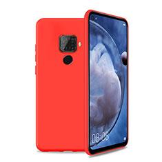 Silikon Hülle Handyhülle Ultra Dünn Schutzhülle 360 Grad Tasche S04 für Huawei Mate 30 Lite Rot