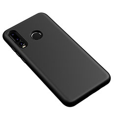 Silikon Hülle Handyhülle Ultra Dünn Schutzhülle 360 Grad Tasche S04 für Huawei P30 Lite Schwarz