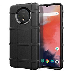 Silikon Hülle Handyhülle Ultra Dünn Schutzhülle 360 Grad Tasche S04 für OnePlus 7T Schwarz