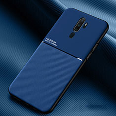 Silikon Hülle Handyhülle Ultra Dünn Schutzhülle 360 Grad Tasche S04 für Oppo A11X Blau