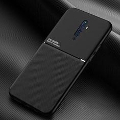 Silikon Hülle Handyhülle Ultra Dünn Schutzhülle 360 Grad Tasche S04 für Oppo Reno2 Z Schwarz