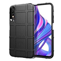 Silikon Hülle Handyhülle Ultra Dünn Schutzhülle 360 Grad Tasche S05 für Huawei Honor 9X Schwarz
