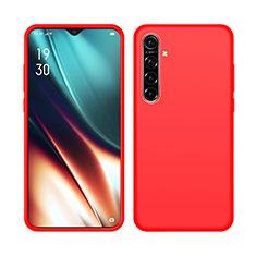 Silikon Hülle Handyhülle Ultra Dünn Schutzhülle 360 Grad Tasche S05 für Realme X2 Rot
