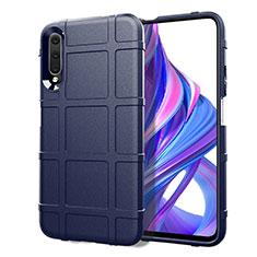Silikon Hülle Handyhülle Ultra Dünn Schutzhülle 360 Grad Tasche S06 für Huawei Honor 9X Pro Blau