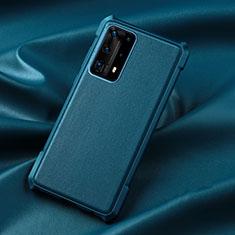 Silikon Hülle Handyhülle Ultra Dünn Schutzhülle 360 Grad Tasche S06 für Huawei P40 Pro+ Plus Blau