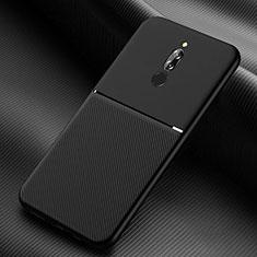 Silikon Hülle Handyhülle Ultra Dünn Schutzhülle 360 Grad Tasche S06 für Xiaomi Redmi 8 Schwarz