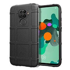 Silikon Hülle Handyhülle Ultra Dünn Schutzhülle 360 Grad Tasche S07 für Huawei Mate 30 Lite Schwarz