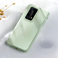 Silikon Hülle Handyhülle Ultra Dünn Schutzhülle 360 Grad Tasche S07 für Huawei P40 Pro+ Plus Grün