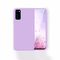 Silikon Hülle Handyhülle Ultra Dünn Schutzhülle 360 Grad Tasche T01 für Huawei Honor View 30 5G Violett