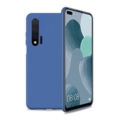 Silikon Hülle Handyhülle Ultra Dünn Schutzhülle 360 Grad Tasche T01 für Huawei Nova 6 5G Blau