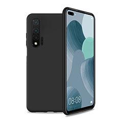 Silikon Hülle Handyhülle Ultra Dünn Schutzhülle 360 Grad Tasche T01 für Huawei Nova 6 5G Schwarz