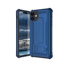 Silikon Hülle Handyhülle Ultra Dünn Schutzhülle 360 Grad Tasche Z01 für Apple iPhone 11 Blau