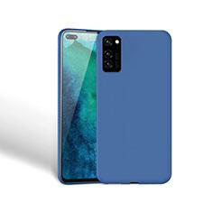 Silikon Hülle Handyhülle Ultra Dünn Schutzhülle 360 Grad Tasche Z03 für Huawei Honor View 30 5G Blau
