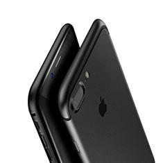 Silikon Hülle Handyhülle Ultra Dünn Schutzhülle A01 für Apple iPhone 8 Plus Schwarz