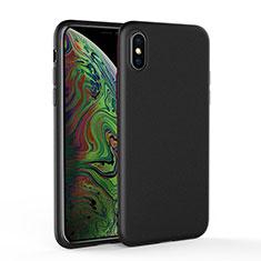 Silikon Hülle Handyhülle Ultra Dünn Schutzhülle C03 für Apple iPhone Xs Max Schwarz