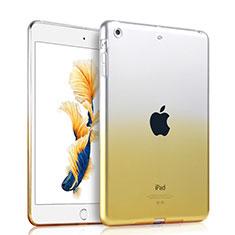 Silikon Hülle Handyhülle Ultra Dünn Schutzhülle Durchsichtig Farbverlauf für Apple iPad Air Gelb