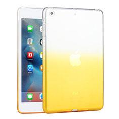 Silikon Hülle Handyhülle Ultra Dünn Schutzhülle Durchsichtig Farbverlauf für Apple iPad Mini 3 Gelb
