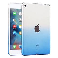 Silikon Hülle Handyhülle Ultra Dünn Schutzhülle Durchsichtig Farbverlauf für Apple iPad Mini 4 Blau