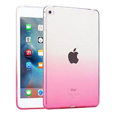 Silikon Hülle Handyhülle Ultra Dünn Schutzhülle Durchsichtig Farbverlauf für Apple iPad Mini 4 Rosa