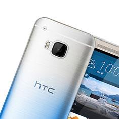 Silikon Hülle Handyhülle Ultra Dünn Schutzhülle Durchsichtig Farbverlauf für HTC One M9 Blau