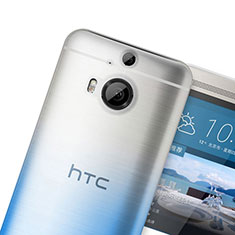 Silikon Hülle Handyhülle Ultra Dünn Schutzhülle Durchsichtig Farbverlauf für HTC One M9 Plus Blau