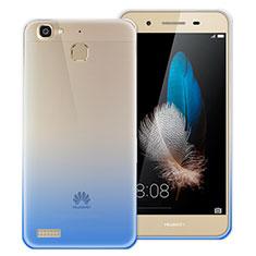Silikon Hülle Handyhülle Ultra Dünn Schutzhülle Durchsichtig Farbverlauf für Huawei Enjoy 5S Blau