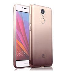Silikon Hülle Handyhülle Ultra Dünn Schutzhülle Durchsichtig Farbverlauf für Huawei Enjoy 6 Grau