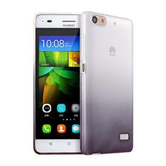 Silikon Hülle Handyhülle Ultra Dünn Schutzhülle Durchsichtig Farbverlauf für Huawei G Play Mini Grau
