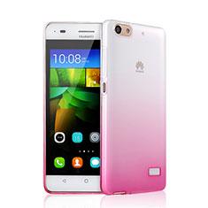Silikon Hülle Handyhülle Ultra Dünn Schutzhülle Durchsichtig Farbverlauf für Huawei G Play Mini Rosa