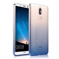 Silikon Hülle Handyhülle Ultra Dünn Schutzhülle Durchsichtig Farbverlauf für Huawei G10 Blau