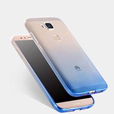 Silikon Hülle Handyhülle Ultra Dünn Schutzhülle Durchsichtig Farbverlauf für Huawei G7 Plus Blau