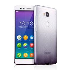 Silikon Hülle Handyhülle Ultra Dünn Schutzhülle Durchsichtig Farbverlauf für Huawei GR5 Grau