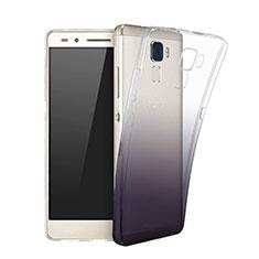 Silikon Hülle Handyhülle Ultra Dünn Schutzhülle Durchsichtig Farbverlauf für Huawei GT3 Schwarz