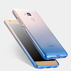 Silikon Hülle Handyhülle Ultra Dünn Schutzhülle Durchsichtig Farbverlauf für Huawei Honor 5C Blau