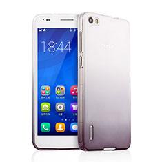 Silikon Hülle Handyhülle Ultra Dünn Schutzhülle Durchsichtig Farbverlauf für Huawei Honor 6 Grau