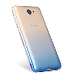 Silikon Hülle Handyhülle Ultra Dünn Schutzhülle Durchsichtig Farbverlauf für Huawei Honor Play 5 Blau