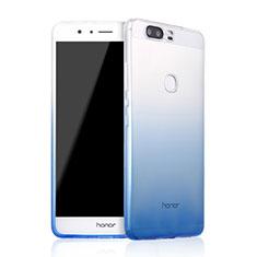 Silikon Hülle Handyhülle Ultra Dünn Schutzhülle Durchsichtig Farbverlauf für Huawei Honor V8 Blau