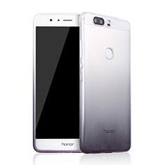 Silikon Hülle Handyhülle Ultra Dünn Schutzhülle Durchsichtig Farbverlauf für Huawei Honor V8 Grau