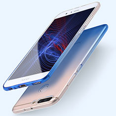 Silikon Hülle Handyhülle Ultra Dünn Schutzhülle Durchsichtig Farbverlauf für Huawei Honor V9 Blau
