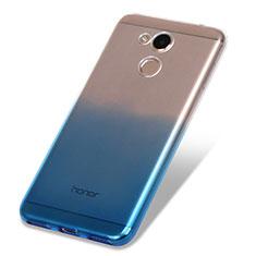 Silikon Hülle Handyhülle Ultra Dünn Schutzhülle Durchsichtig Farbverlauf für Huawei Honor V9 Play Blau