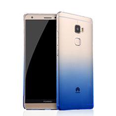 Silikon Hülle Handyhülle Ultra Dünn Schutzhülle Durchsichtig Farbverlauf für Huawei Mate S Blau