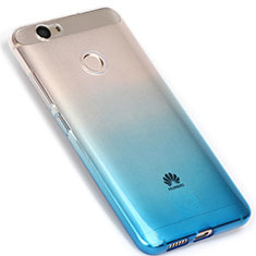 Silikon Hülle Handyhülle Ultra Dünn Schutzhülle Durchsichtig Farbverlauf für Huawei Nova Blau